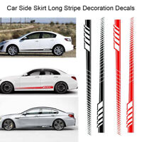 2x Car Graphics Side Body Door Decor Sticker Racing Long Stripe Vinyl Decals DIY