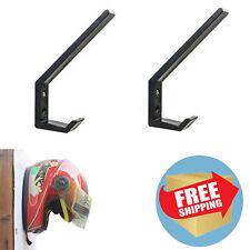 2× Motorcycle Helmet Holder, Jacket Hanger, Motorbike Wall Mount Display Rack