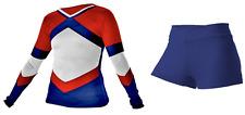 Cheerleader Uniform Navy Red Cheer Outfit Cheerleading Costume Adult XL
