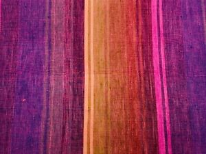 Purple High Quality Striped Fabric Fat Quarter 100% Cotton Purchased Quilt Show
