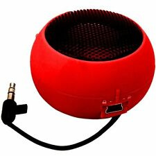 Bases de audio y mini altavoces rojo para reproductores MP3 Universal