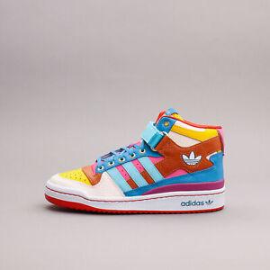 Adidas Originals Forum Mid SEED Gold Aqua Pink Design New Shoes Women GV7673