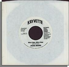 """Jackie Moore - Who's Next, Who's Now - 1981 Promo 7"""" 45 RPM Disco Single!"""