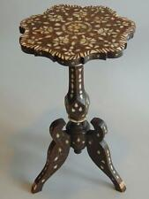19th Century Indo - Persian Mother of Pearl Inlaid Tripod Table