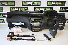 Nissan Qashqai Airbag Kit 2014 - On Seat Belts Driver Passenger Dashboard
