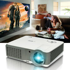 HD LED Projector 4200lm Multimedia Home Theater Video Party HDMI VGA USB 7000:1