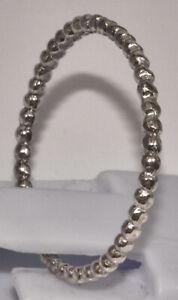 massiv Sterling Silber 925 Ring zierlich filigran Kugelstruktur Beisteckring