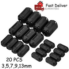20 PCS Ring Core Ferrite Bead Clamp Choke Coil Rfi Emi Noise Filter Cable Clip