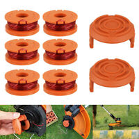 KQ_ 4/6Pcs Replacement Spool Line Parts Grass Trimmer Edger for WORX WA0010 Swee