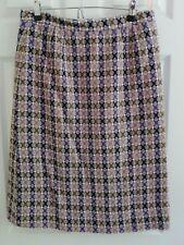 """VINTAGE 1970'S purple WELSH TAPESTRY WOOL PENCIL SKIRT waist 32"""""""