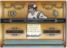 2006 National Treasures Laundry Tag Jersey Fran Tarkenton Minn. Vikings #'d 5/6