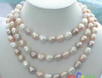 "New Long 18-110 ""7-8mm Baroque Multicolor Freshwater Pearl Necklace Aaa"