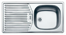 Einbauspüle - Küchenspülbecken Edelstahl - 840x415 mm für 45/50/60er Schrank
