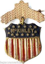 Antique 1896 William McKINLEY Campaign Shield Badge (1749)