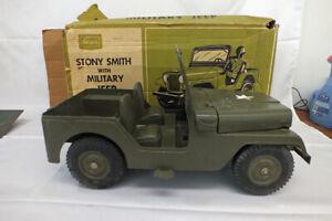 Vtg 1965 Marx Stony Stonewall Smith Army Solider Jeep Action Military Vehicle