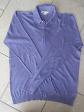 John Smedley Lilac Sea Island cotton L/S polo top Size:medium RRP £150