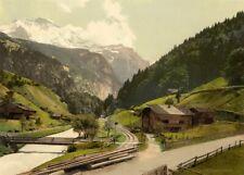 Lauterbrunnen Valley, Bernese Oberland, 1890's, Vintage Swiss Photography Poster
