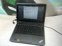 "Lenovo ThinkPad 11e Chromebook Quad Core 11.6"" 4GB 16GB C GRADE TOUCHSCREEN"