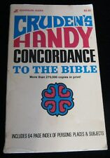 CRUDEN'S HANDY CONCORDANCE TO THE BIBLE SOFTCOVER TWENTY-FOURTH PRINTING 1979