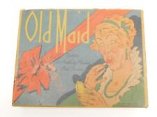 Antique 1937 Whitman Pub. OLD MAID Card Game Complete w Box & Instructions FAIR