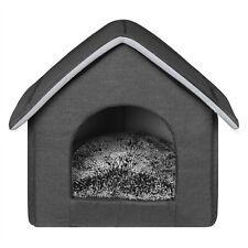 Hundehaus Tierbett Katzenbett Hundehütte Katzenhöhle weichem Wasserfest Grau