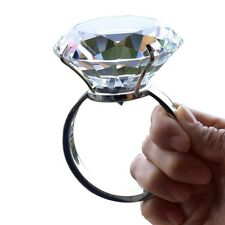 Large Diamond Ring Crystal Glass Marriage Props Ornaments Wedding Decoration 1x