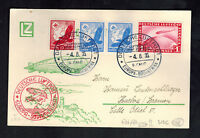 1935 Germany LZ 127 Graf Zeppelin PC Cover to Seville Spain 9th SAF Sieger C35