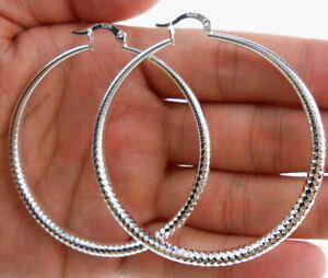925 Sterling Silver Plated Hoop Earrings Fashion Jewelry Earrings For Women 33