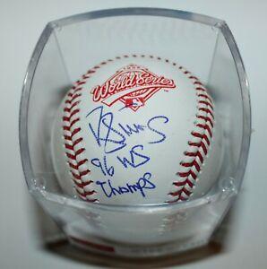 Darryl Strawberry Autographed #39 Yankees World Series 1996 MLB Baseball JSA COA