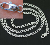 Wholesal 5PCS 4MM 925 Sterling Silver Plated Chain Fashion Men Flat Necklace NEW