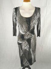 Ladies Dress Size 8 PRECIS Grey Stretch Jersey Smart Party Evening Wedding