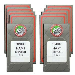 100 ORGAN FLAT SHANK 15X1 HAX1130/705 HOME SEWING MACHINE NEEDLES BROTHER SINGER