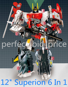 New in Stock Deformabl Superion IDW 6 In 1 Action Figure G1 KO HZX Kids Toys 12""