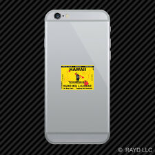 Hawaii Terrorist Hunting Permit Cell Phone Sticker Mobile License HI