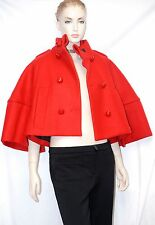 $2,495 RUNWAY Burberry Prorsum 38 4 Short Sculptural Wool Women Cape Jacket NEW