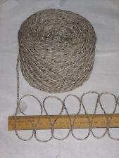 7 x 100g Grey Beige Oatmeal Tweed 100% English Wool Double knitting yarn dk