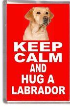 """Labrador Retriever Dog Fridge Magnet """"KEEP CALM AND HUG A LABRADOR"""" by Starprint"""