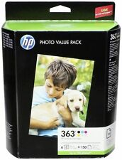 HP 363 Q7966EE Value Pack 6 Inks+150 Sheets Glossy Paper C5180 C7180 D7360 2016