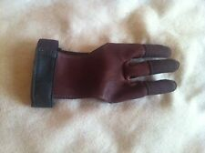 Dura Glove (by 3 Rivers) Leather Archery Shooting Glove with Nylon finger tips