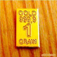 1 GOLDBARREN mit 0,0648 Gramm + Zertifikat + Limitiert 999,9 Gold Barren Münze