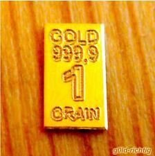 1 GOLDBARREN mit 0,0648 Gramm Gewicht (999,9 Gold Barren Geschenk) NEU