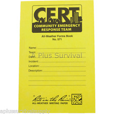 C.E.R.T. Forms Book - Pre-perforated pages! CERT