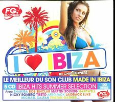 I LOVE IBIZA BY CHIC FLOWERZ - FG RADIO - 5 CD COMPILATION NEUF ET SOUS CELLO