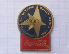 COCA-COLA / OLYMPISCHE SPIELE CALIFORNIA 1960 ...... Winter Sport Pin (130b)