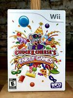 Chuck E. Cheese's Party Games (Nintendo Wii, 2010) no manual/Tested!