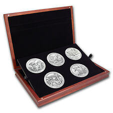 2016 5 oz Silver ATB 5-Coin Set (Elegant Display Box) - SKU #104910