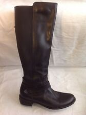 F&F Black Knee High Leather Boots Size 39