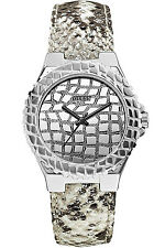 GUESS U0227L1,Ladies Silver-Tone Exotic Sport Watch,30m WR