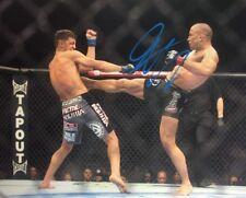 UFC CHAMPION GSP GEORGE RUSH ST PIERRE SIGNED 8X10 PHOTO W/EXACT PROOF W/COA JSA