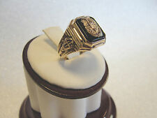 VINTAGE 10K GOLD ELEGANT AND HIGHLY DETAILED CLASS RING 1946 MIDWOOD